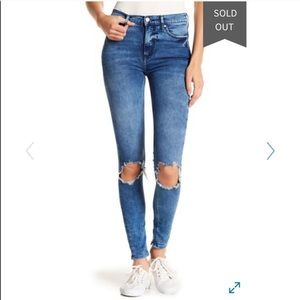 Free People Busted Knee High Rise Skinny Jeans NWT
